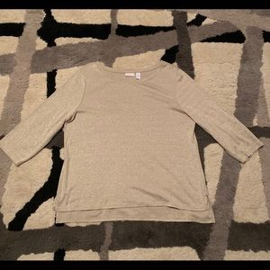 Chico's size 3 gold shimmer top EUC